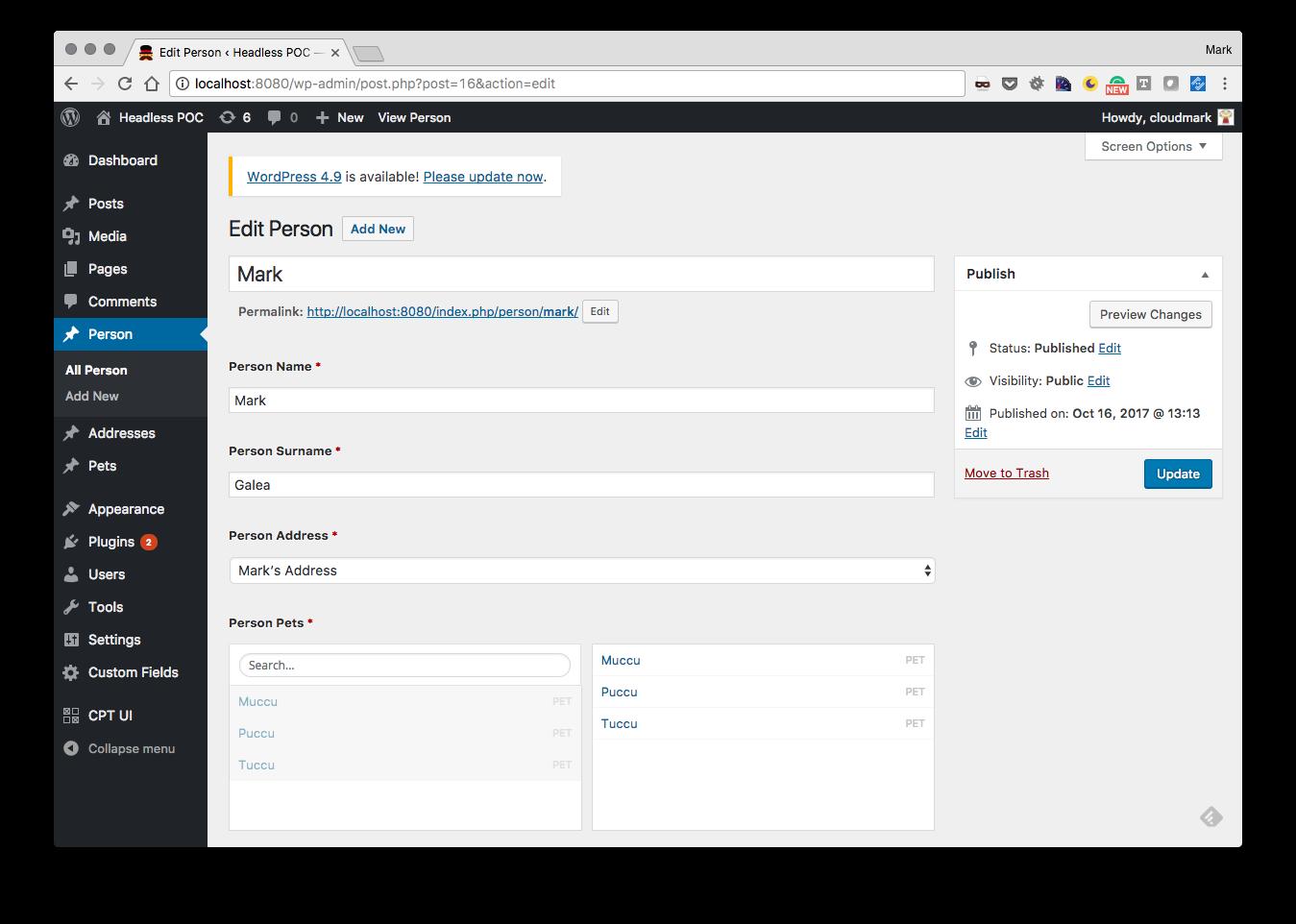 An efficient headless CMS on top of Wordpress - a k a the ACF